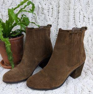 Sam Edelman Suede Block Heel Ankle Boots 7